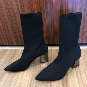 Zara Pointed Toe Sock Boots